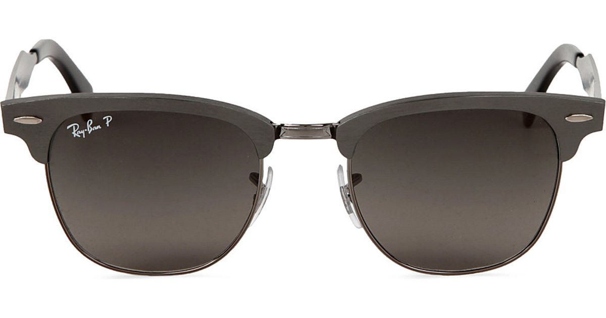 8669c3162b ... coupon for ray ban clubmaster aluminium sunglasses with black polarised  lenses rb3507 51 in metallic lyst