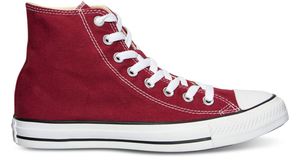 4c0653f759da Lyst - Converse Men s Chuck Taylor Hi Top Casual Sneakers From Finish Line  in Red for Men