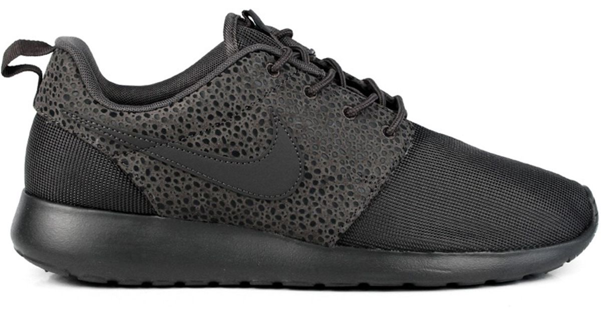 new products 9cfbc 92d07 Nike - Roshe Run Safari All Black for Men - Lyst
