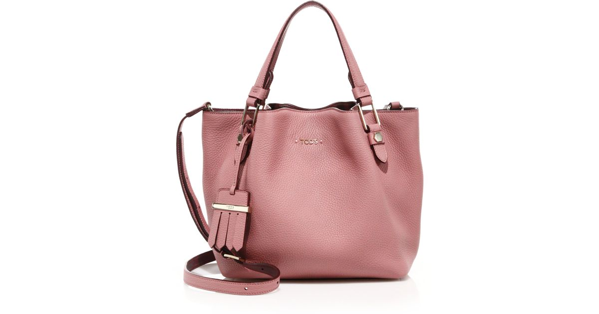 Lyst tods flower mini tote in pink mightylinksfo