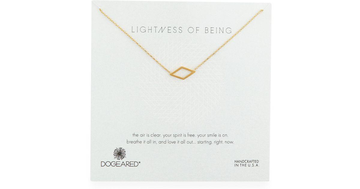 Lyst dogeared lightness of being diamond shaped pendant necklace lyst dogeared lightness of being diamond shaped pendant necklace in metallic aloadofball Images