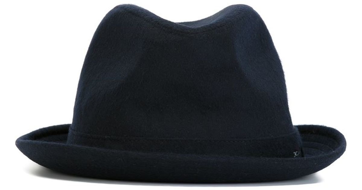 3c272fb841f Lyst - Kiton Trilby Hat in Blue for Men