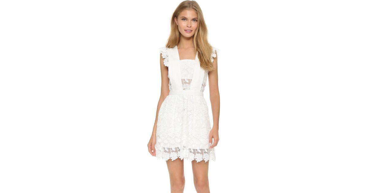 97b94e38e946 Self-Portrait Frilled Lace Dress in White - Lyst