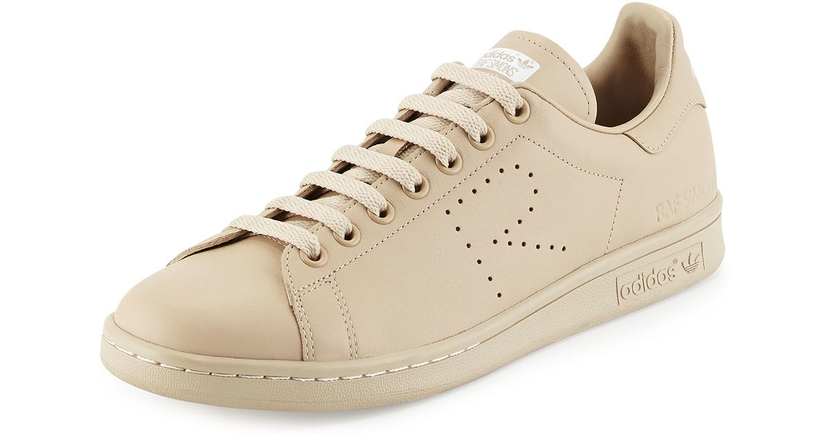 Adidas By Raf Simons Natural Stan Smith Leather Sneaker