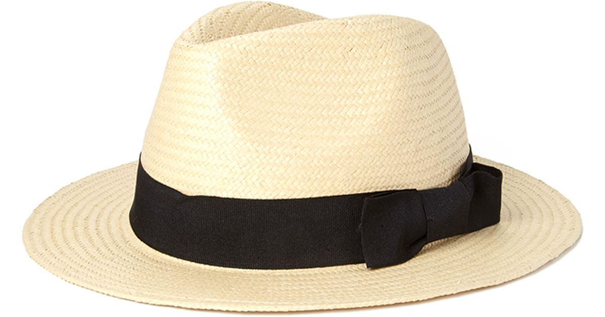Lyst - Forever 21 Somewhere Sunny Straw Fedora in Natural a984bbe76a2