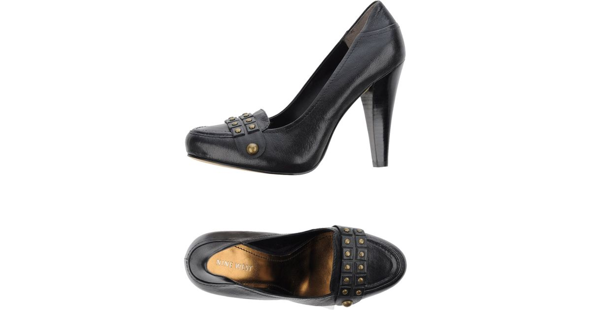 nine west lace up shoes in black lyst