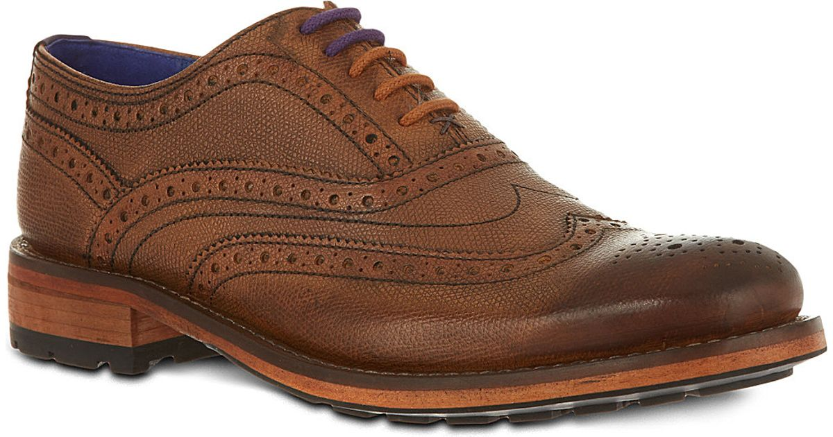 cab80863a7311 Ted Baker Guri 7 Oxford Brogues Tan in Brown for Men - Lyst