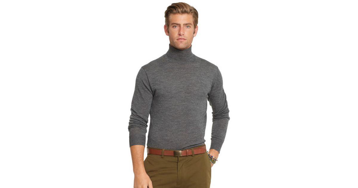 ed603d802 Lyst - Polo Ralph Lauren Merino Wool Turtleneck in Gray for Men