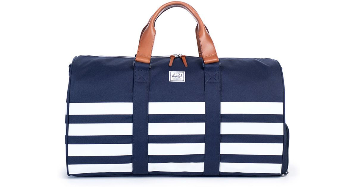 ... Lyst - Herschel Supply Co. Novel Striped Duffle Bag Navy in White for  Men finest ... a72cc59b03d35