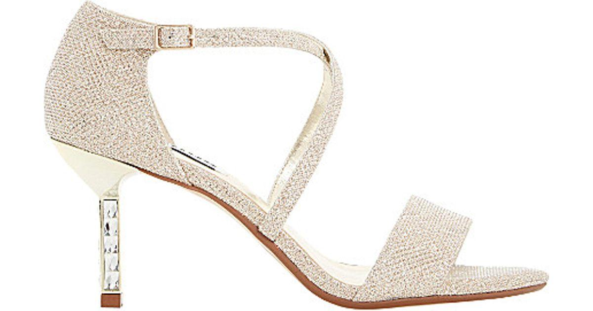 Diamante Sandals Strap Lyst Metallic Heeled Dune Cross In Mindee H92EYeWDbI