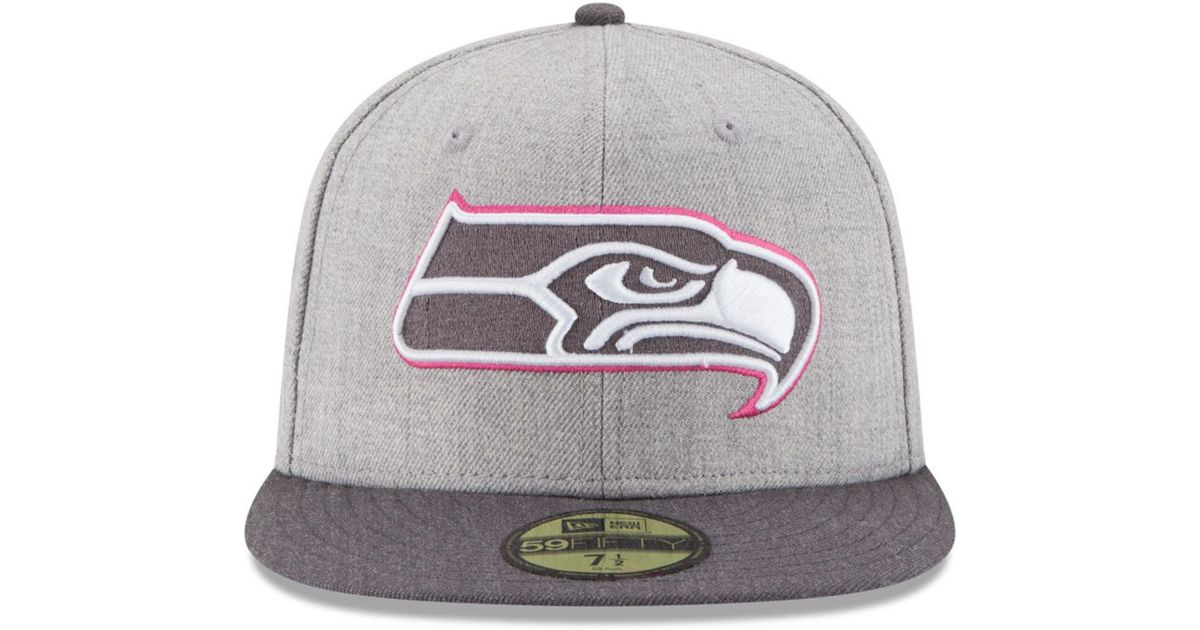 be8623b0952 ... switzerland lyst ktz seattle seahawks breast cancer awareness 59fifty cap  in pink for men f972b 5addd