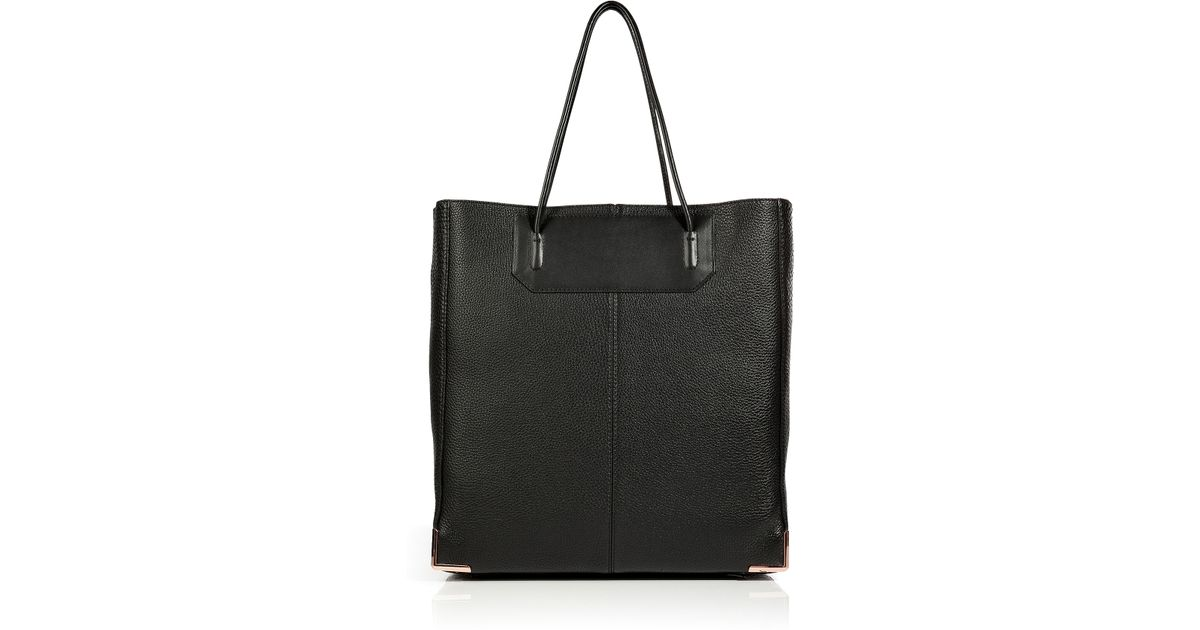 Lyst - Alexander Wang Leather Prisma Tote In Pebbled Black in Black d6a109b0ab514