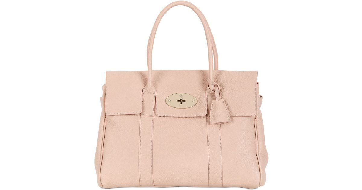 Lyst - Mulberry Bayswater Soft Grained Leather Bag in Pink 95ec8b4c09