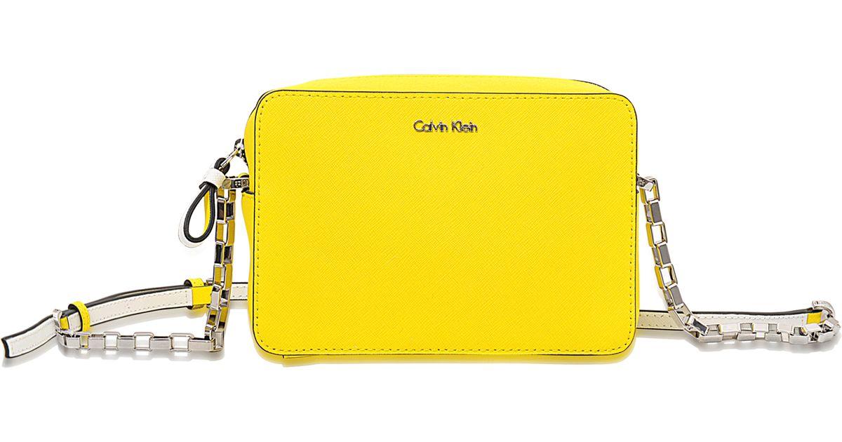 a9ebae944a7 Calvin Klein Sofie Mini Crossbody Bag in Yellow - Lyst