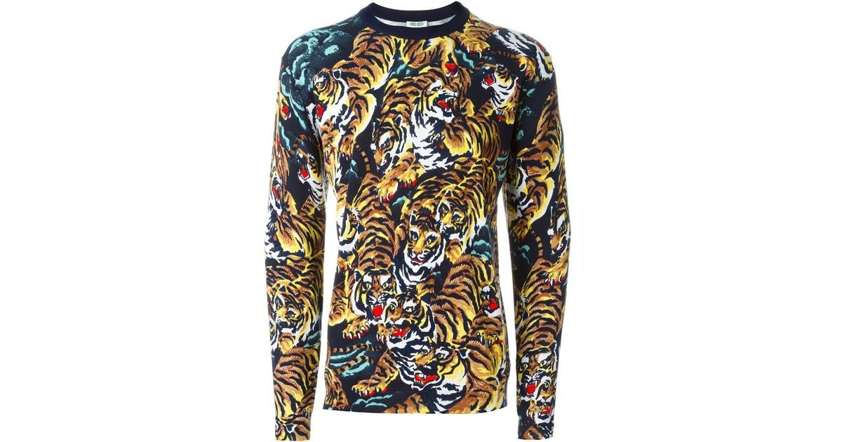 bd67a100873b KENZO 'flying Tiger' Sweater in Black for Men - Lyst