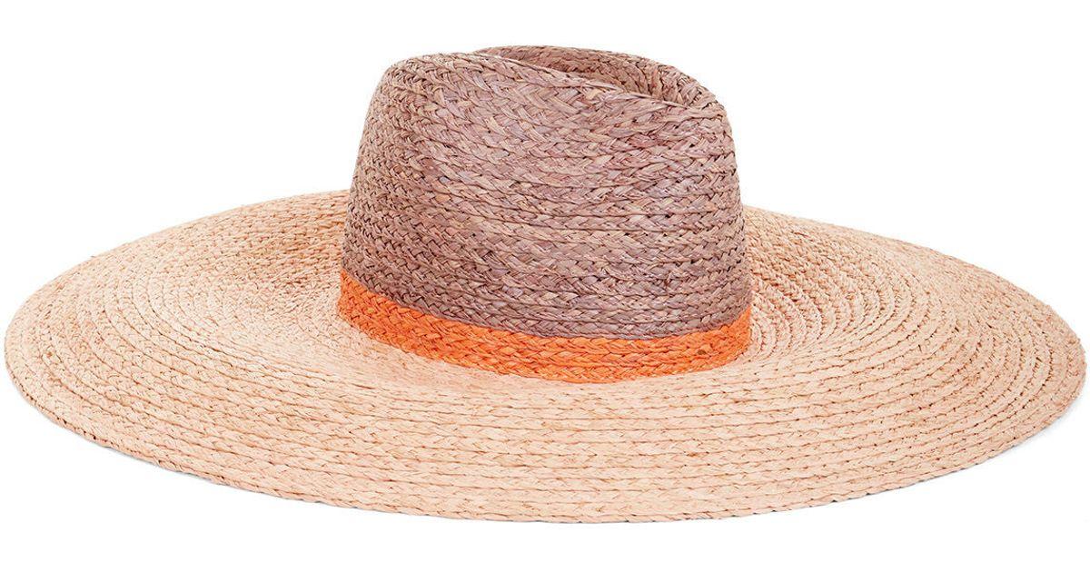 b36eef6b0e8 Lyst - BCBGMAXAZRIA Blocked Floppy Hat in Natural