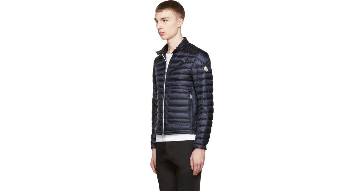1532cf687 Lyst - Moncler Navy Down Picard Jacket in Blue for Men