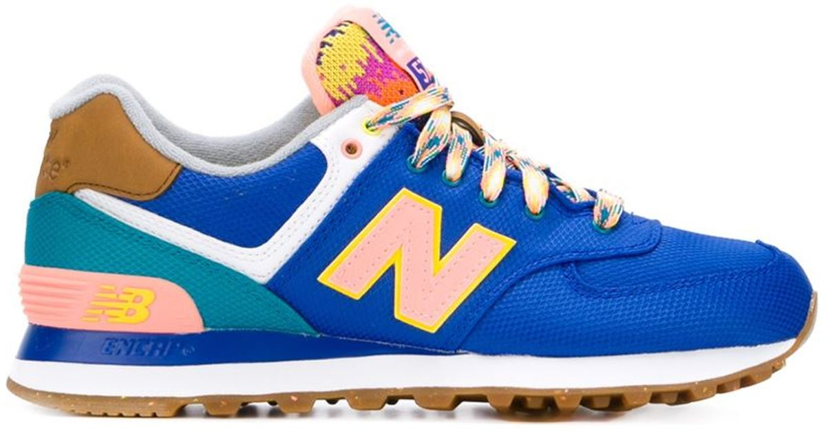 new balance 574 yellow and blue