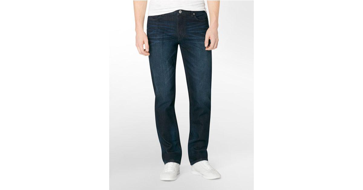 calvin klein jeans slim straight leg osaka blue wash jeans. Black Bedroom Furniture Sets. Home Design Ideas