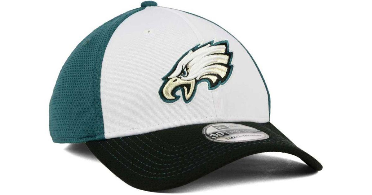 233a04b9f29 Lyst - Ktz Philadelphia Eagles Chase White Front Mesh 39thirty Cap in Green  for Men