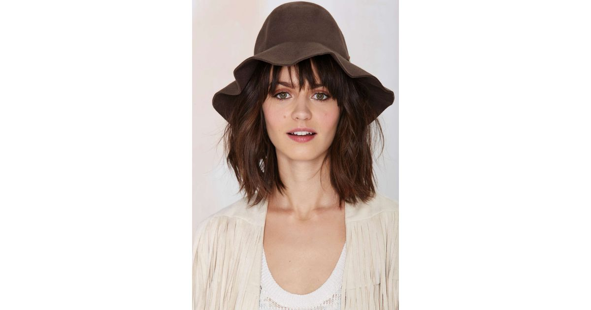 Lyst - Nasty Gal Brixton Jethro Wool Hat in Brown 3c9e5cee307