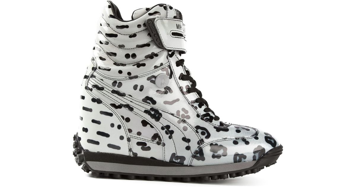 Lyst - PUMA Mihara Yasuhiro Leopard Print Sneakers in Gray 6405d8ed0
