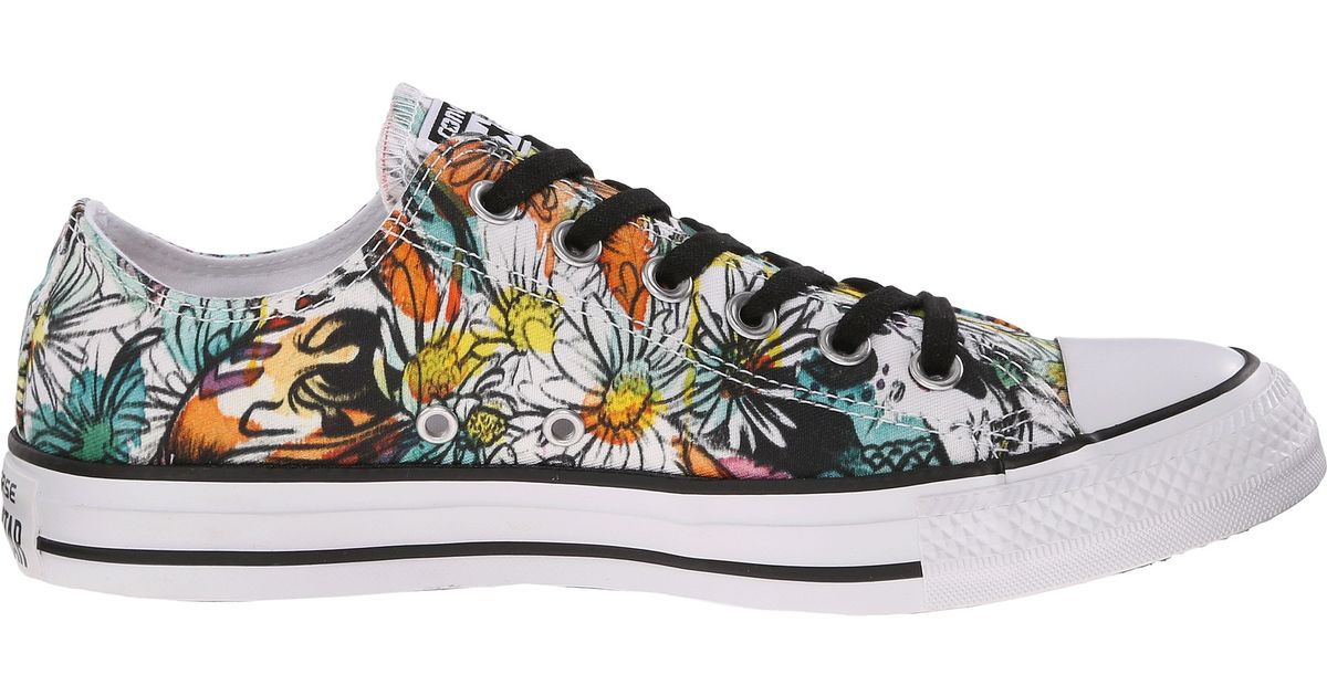 Lyst - Converse Chuck Taylor® All Star® Ox Daisy Print in Gray for Men 630a679f6