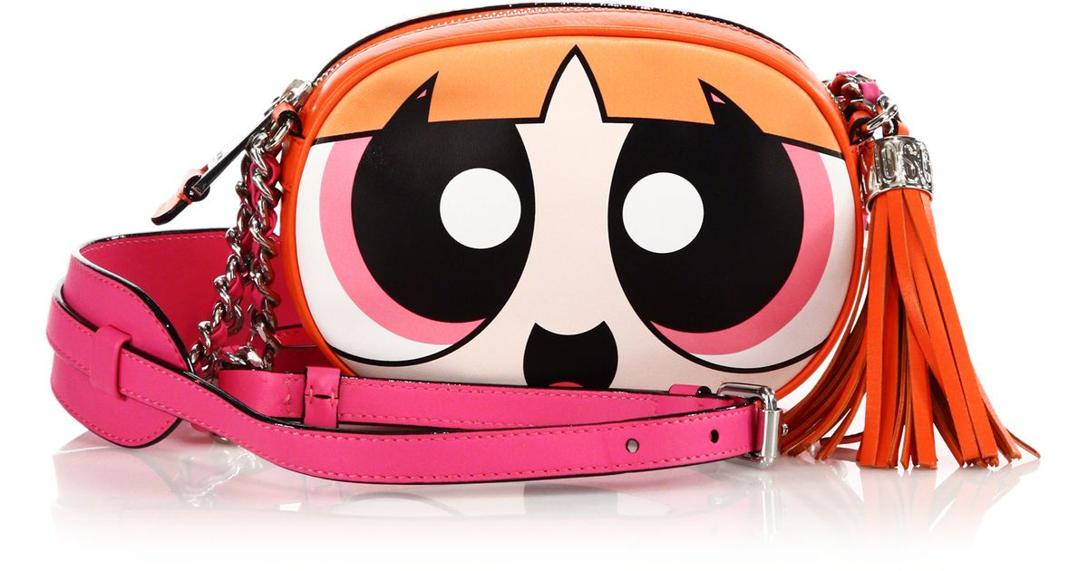a205566c0d Moschino Powerpuff Girls Calf Leather Crossbody - Lyst