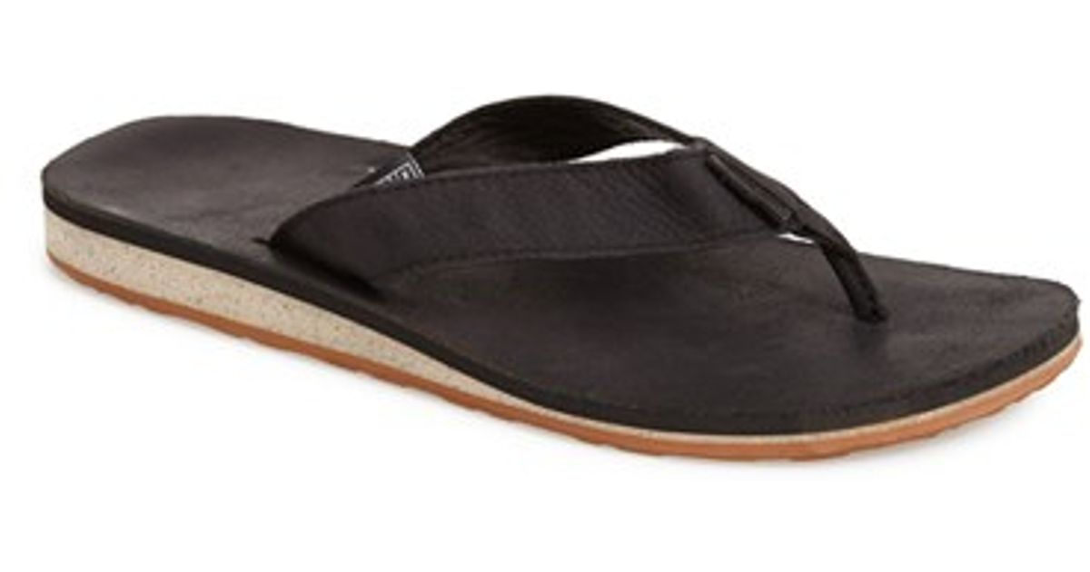 Lyst - Teva Classic Flip Leather Flip Flop In Black For Men-2524