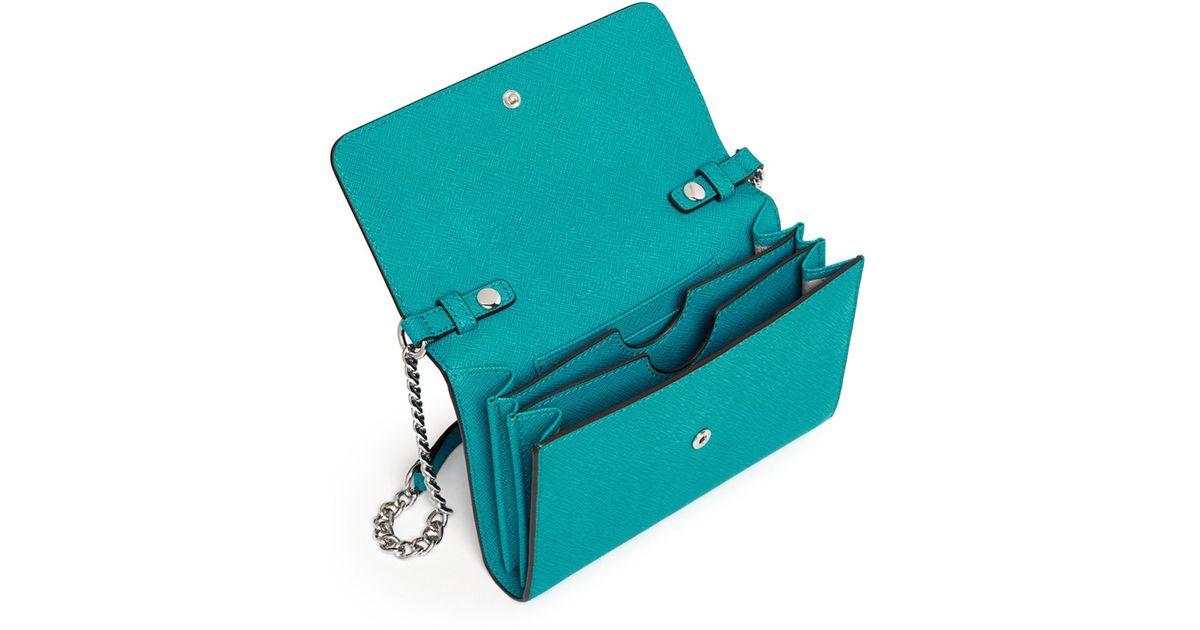 0151dd309144 Michael Kors 'jet Set Travel' Saffiano Leather Phone Crossbody Bag in Blue  - Lyst
