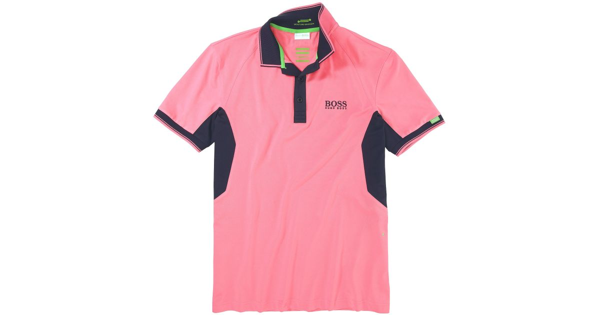 fd87a7123 BOSS Green Golf Polo Shirt Paddy Mk From The Martin Kaymer Collection in  Pink for Men - Lyst