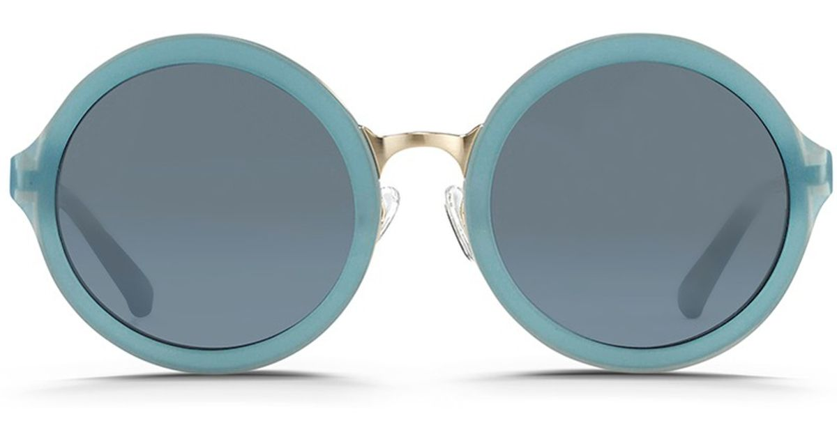 cf2b839ec19 Lyst - 3.1 Phillip Lim X Linda Farrow Stainless Steel Rim Frosted Sunglasses  in Blue