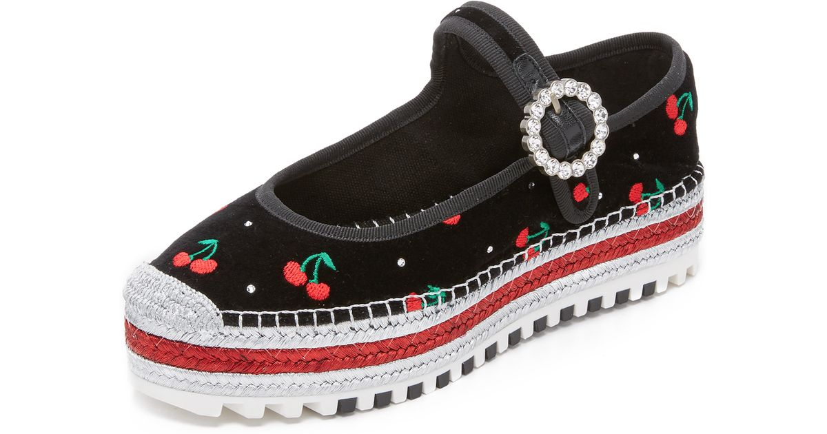 d42b1bb9ee5 Marc By Marc Jacobs Suzi Cherry Mary Jane Espadrilles in Black - Lyst