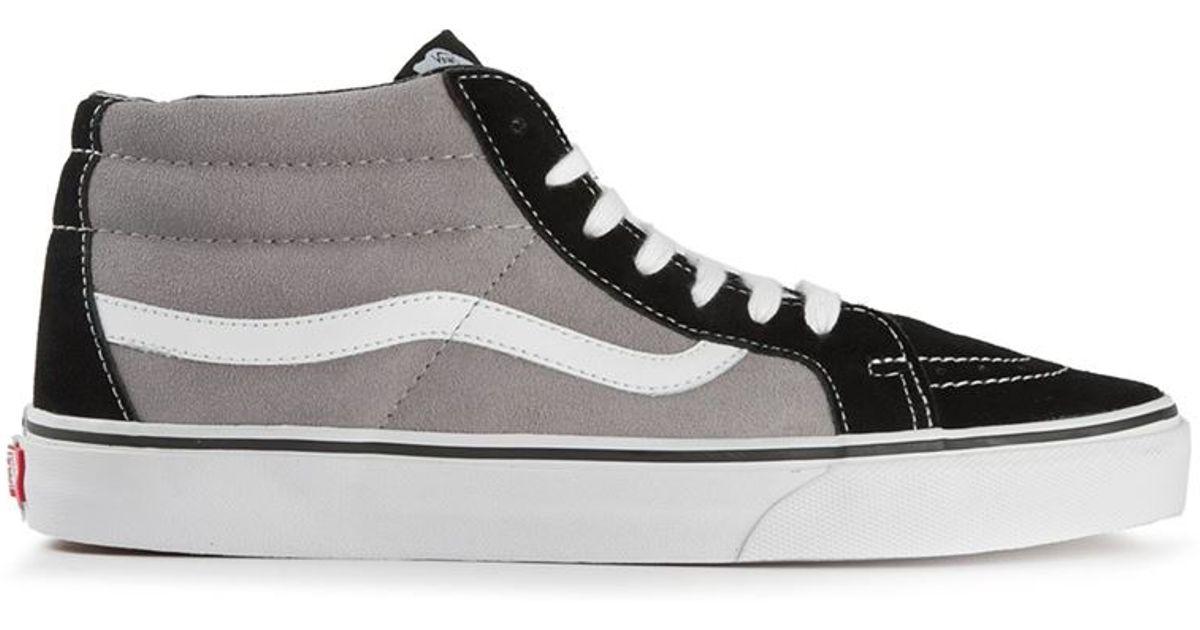 vans sk8 mid high sneakers in gray for men lyst