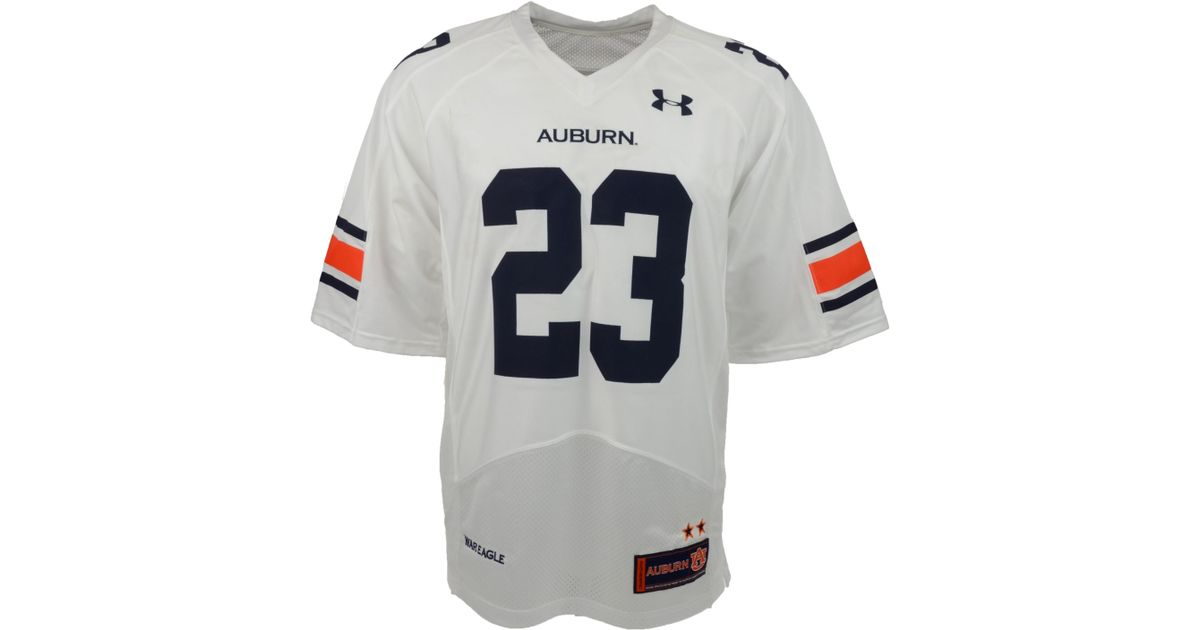 Under Armour White Men S Auburn Tigers Ua Replica Football Jersey For Men Lyst