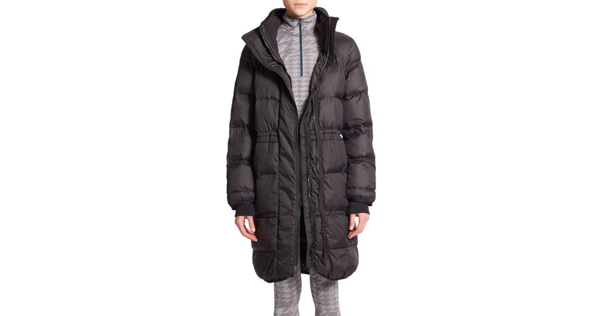 9c61b5e8e adidas By Stella McCartney Long Puffer Jacket in Black - Lyst