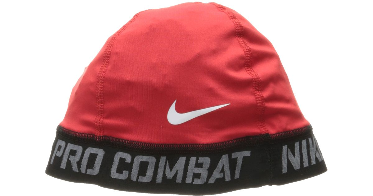 dce1609e ... promo code for lyst nike pro combat banded skull cap 2.0 in red 8e4c8  126a8
