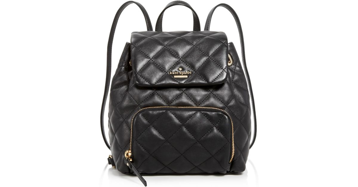 ff2686822a73 Kate Spade Bloomingdale's Exclusive Jessa Quilted Mini Backpack in Black -  Lyst