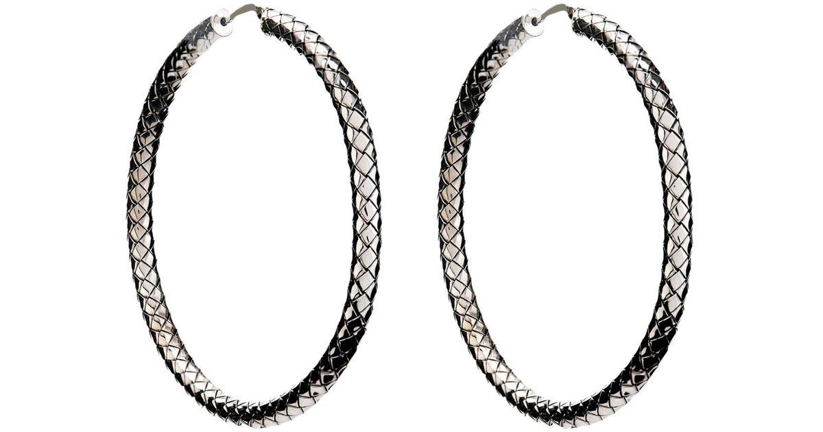 Intrecciato drop hoop earrings Bottega Veneta BjgPd
