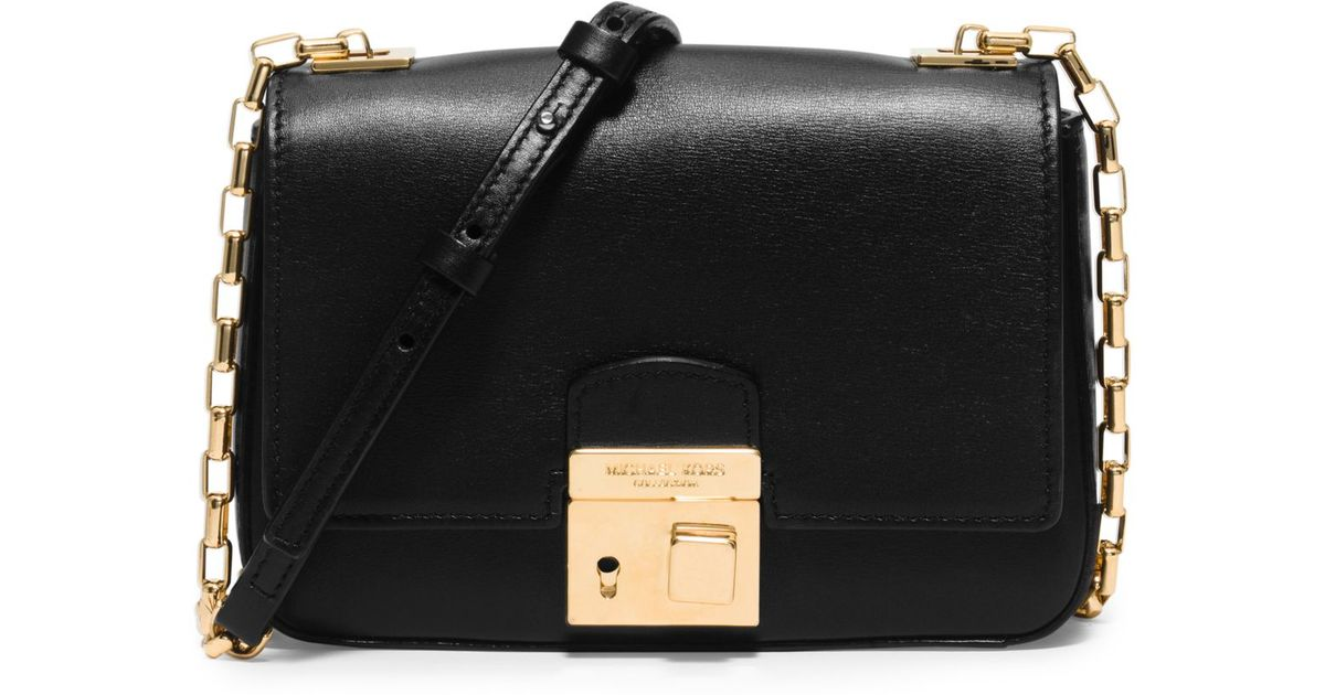 cf5310f68c7 ... authentic lyst michael kors gia small leather shoulder bag in black  fd77f 57f34