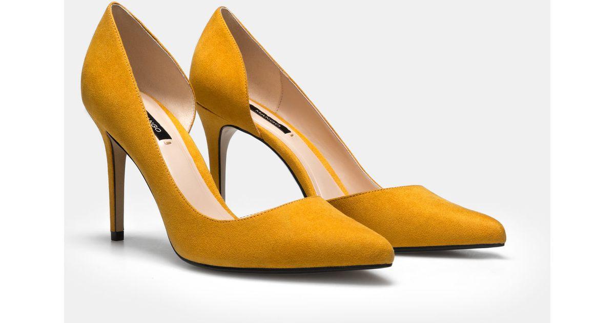 6991ac23715 Lyst - Mango Stiletto Shoes in Yellow