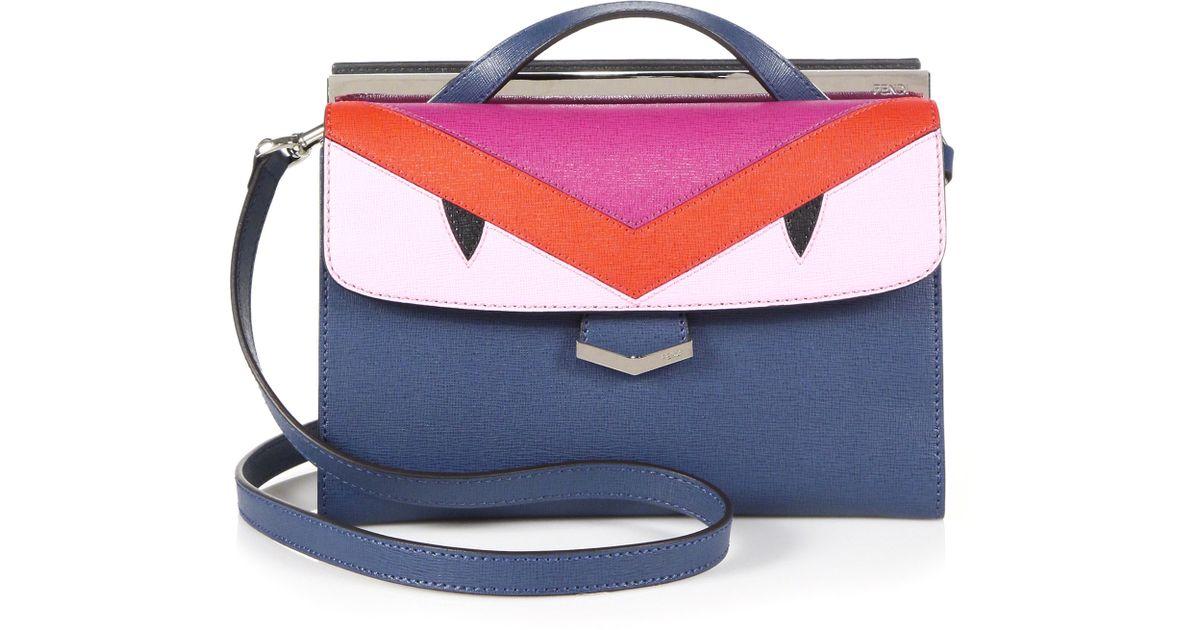 17edd3369591 Lyst - Fendi Demi Jour Small Monster Cross-Body Bag