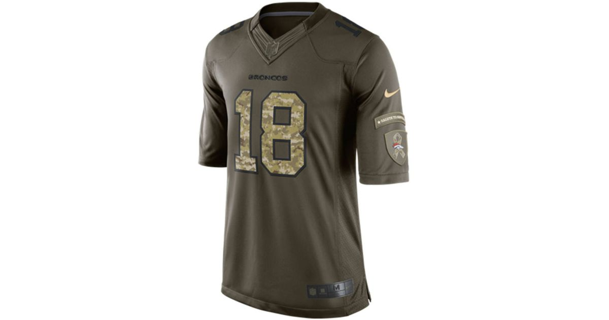 the latest 9287c 80ce2 Nike - Green Men's Peyton Manning Denver Broncos Salute To Service Jersey  for Men - Lyst