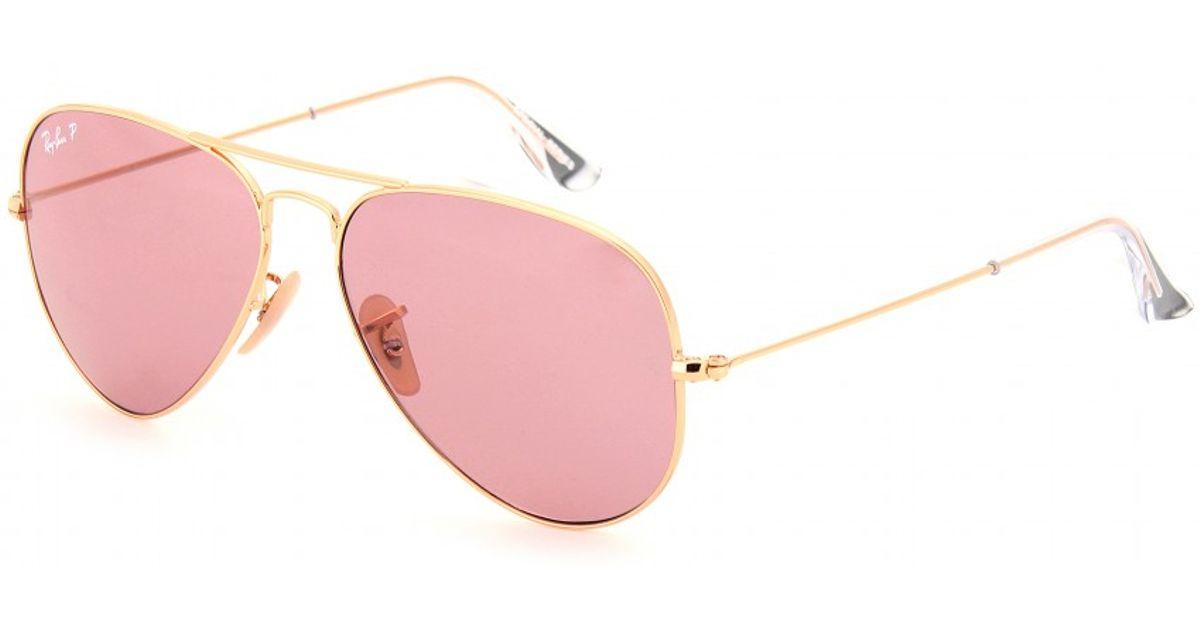 e4eac27eccb31e Ray-Ban Aviator Large 58 Metal Sunglasses in Metallic - Lyst