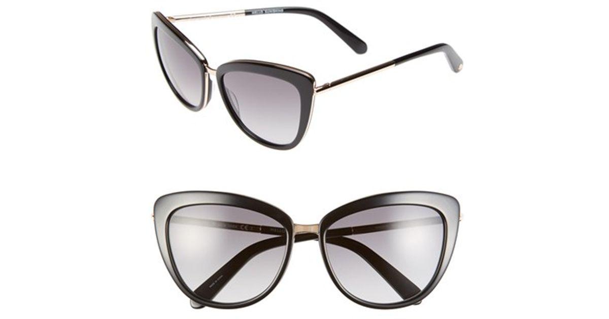 ee4fa1bc8e894 Lyst - Kate Spade  kandi  56mm Cat Eye Sunglasses in Black