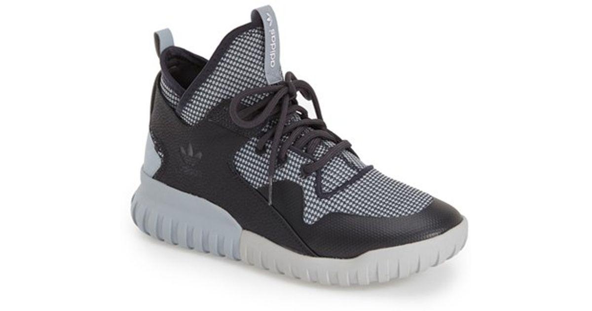 b8d29d54ae49 adidas tubular x sneakers  lyst adidas originals tubular x sneaker in gray  for men