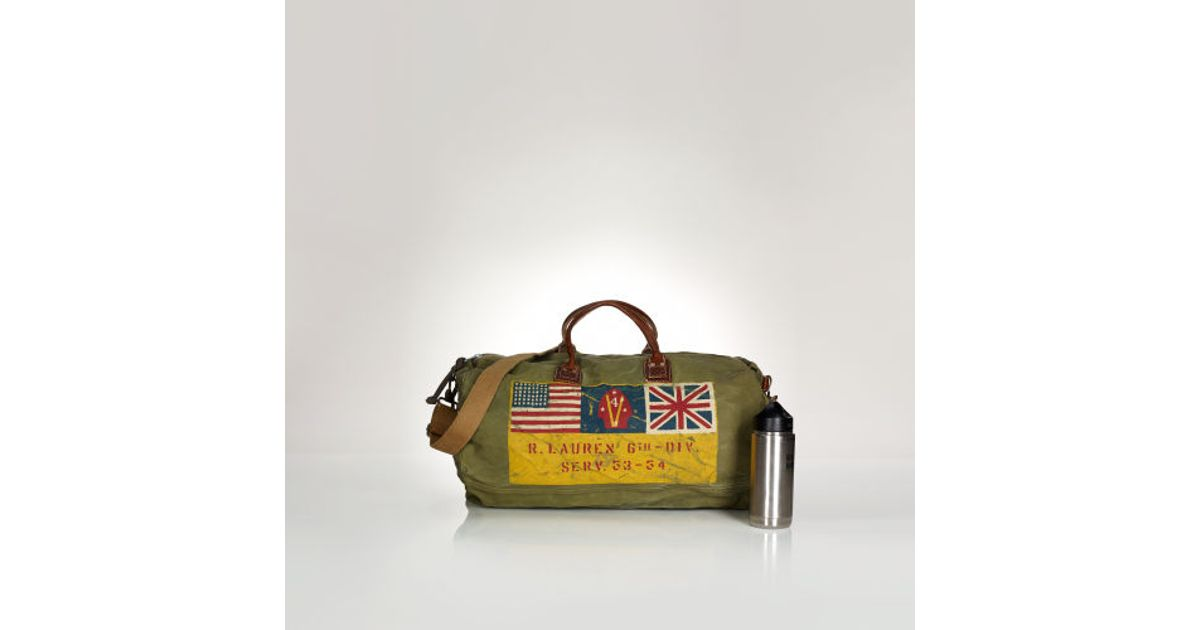 876eb04a06ad Lyst - Polo Ralph Lauren Military Duffel Bag in Green for Men