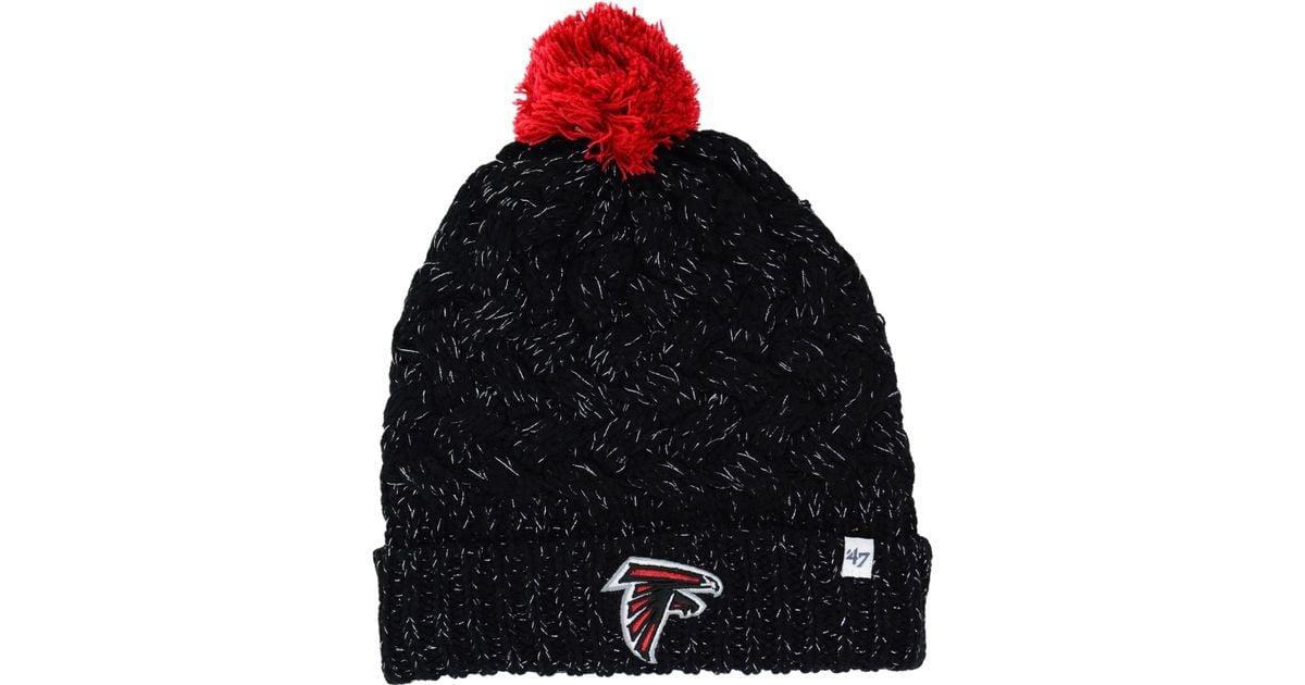 Lyst - 47 Brand Women s Atlanta Falcons Fiona Pom Knit Hat in Red 81da10a22