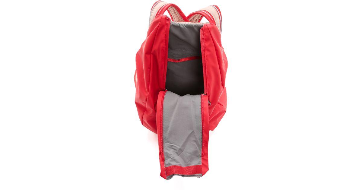 Lyst - adidas By Stella McCartney Running Cycling Backpack - Scarlet Red in  Red 2ebab832c4ab1