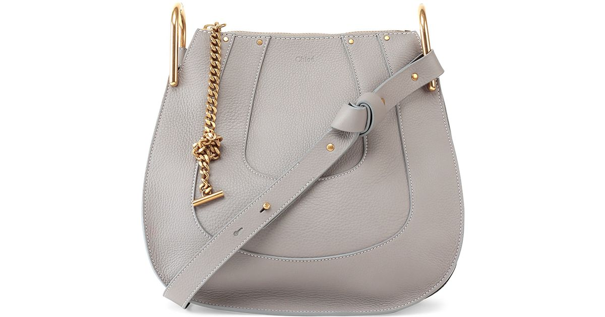 2fed3609e7 Lyst - Chloé Hayley Small Leather Hobo Bag in Gray